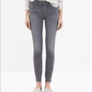 Madewell High Rise Gray Skinny Jeans